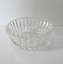 Vtg. Clear Fluted Glass Candy Dish/Bowl Round Collectible Home Decor Accent (U)