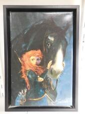 WALT DISNEY Brave 'Willful Daughter' Giclee on Canvas Ltd Ed 47/195 Jim Salvati