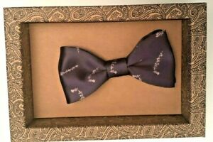 Satin Purple Dr Who Mrs Bow Tie Pre Tied Luxury Formal Prom Wedding Thyme Lord