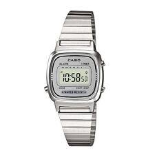 Casio LA670WEA-7EF Chronograph Water Resistant Ladies Silver Dial Watch New