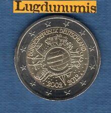 2 euro Commémo Allemagne 2012 10 Ans de L'Euro A Berlin Germany