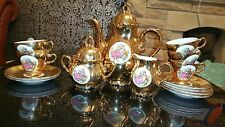 Vintage Bondware  Foreign Fine China Gold Coffee Set. The lovers.