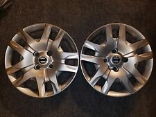 """Pair Of 2 Brand New 2010 2011 2012 Sentra Hubcaps 16"""" Wheel Covers 53084"""