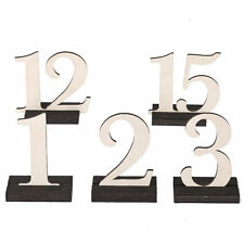 Wooden Standing Table Numbers with Holders Wedding Party Decor