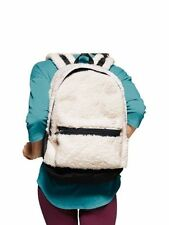 NWT Victorias Secret PINK CAMPUS BACKPACK SHERPA WHITE VS DOG LARGE BAG