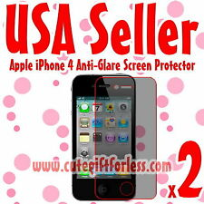 2x Anti Glare Matte Screen Protector Cover Film Guard for Apple iPhone 4S 4GS
