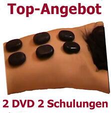 Kurs Schulung Rückenschule + Hot Stone Massage 2 Zertifikate 2 DVD