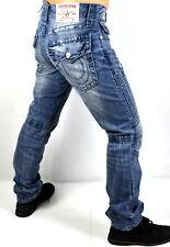 True Religion Men's Relaxed Slim Moto Big T Brand Jeans - 101483