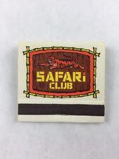 Vintage Safari Club Estacada Oregon Matchbook w/ Sticks Collectible
