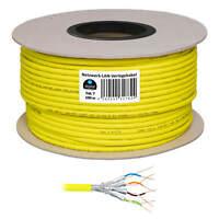 Kupfer Cat 7 Netzwerk LAN kabel Verlegekabel 100m S/FTP GELB Cat.7 Installations