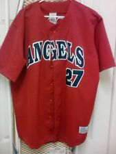 """Angeles Vladimir Guerrero #27 True Fan Red Jersey with Tags """"L"""" (42-44)"""
