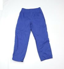 Sunice Mens Large Lined Blank Waterproof Hiking Golfing Golf Rain Pants Blue