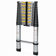 EN131 Extendable 6061 Aluminum Alloy Professional Use Telescoping Ladder 15.5' F
