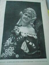 Gravure 1884 - La Rieuse   tableau de M. Weertz
