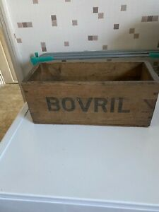 1940s Retro wooden Bovril storage box