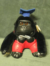 "Lida Int'l Graduation Gorilla Plush 9"" Stuffed Animal w/ Window suction cups"