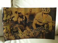 Vintage 2005 OAKLEY Road Racing Cyclist LANCE ARMSTRONG POP Window Display Card