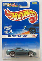 1997 Hotwheels 97 Chevy Corvette C5 V8 Green! Mint! Very Rare! MOC!