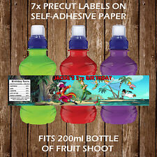 Personalised Peter Pan Fruit Shoot Bottle Labels Birthday Children Party Favour