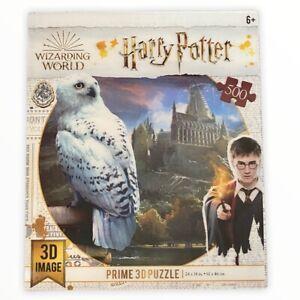 Harry Potter Hedwig Owl Prime 3D Image Picture 500 Piece Puzzle NIB