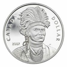 2007 - CELEBRATING THAYENDANEGEA PROOF SILVER DOLLAR (JOSEPH BRANT)