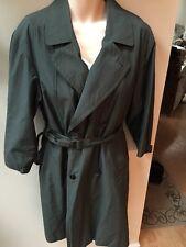 Sanyo Carol Cohen Trench Coat Raincoat W/ Removable Liner 36 S Hunter Green