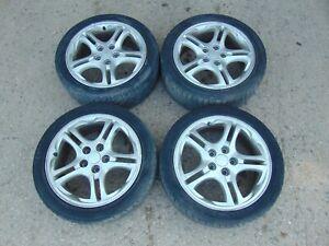 4x Alloy Wheels Hyundai Coupe GK 02-06 7J 5x114.3 ET46 tyres 215/45/17 10 spoke