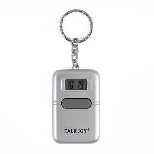 Sprechender Schlüsselanhänger Uhrzeit Wecker Sprachausgabe Blindenuhr Taschenuhr