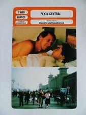 CARTE FICHE CINEMA 1986 PEKIN CENTRAL Yves Renier Christine Citti Marco Bisson S