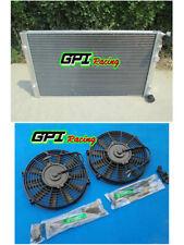 ALUMINUM RADIATOR &FAN 1999-2002 Volkswagen Golf MT Turbo MK4 Dual Pass 01 2002
