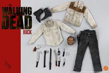 CGL Walking Dead Rick Grimes 1/6 Head Sculpt+Costume for Hot toys FIGURE body