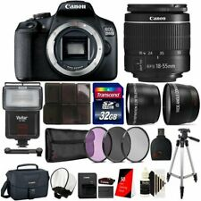 Canon EOS 2000D / Rebel T7 24.1MP Digital SLR Camera + EF-S 18-55mm lens + Origi
