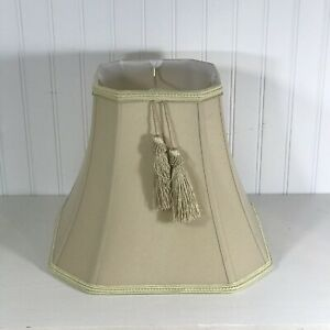 """Cut Corner Square Bell Shade Beige Lampshade 13 1/4"""" w x 11 5/8"""" t Spider"""