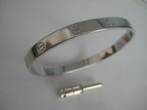 Silver bangle solid sterling 925 screw gents