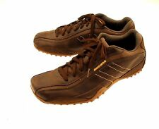 Skechers USA Burnished Brown Drivers Sneakers Leather Upper Men's EUR 47.5 US13