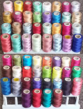 60 Rayon Embroidery Machine Thread Spools 60 Different Colours **AP