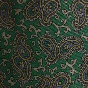 Green Gray Paisley Silk MOLTENI Tie