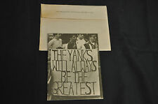 1967 NEW YORK YANKEES ADVERTISERS GUIDE! VERY RARE! MANTLE! VERY FINE!