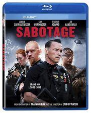 USED BLU RAY - SABOTAGE - Arnold Schwarzenegger, Sam Worthington, Terrence Howar
