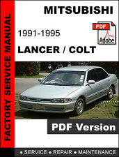 MITSUBISHI LANCER COLT 1991 1992 1993 1994 1995 ULTIMATE SERVICE REPAIR MANUAL