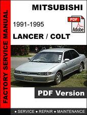 MITSUBISHI LANCER COLT 1991 1992 1993 1994 1995 ULTIMATE SERVICE REPAIR MANUAL