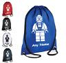 PERSONALISED Drawstring Bag LEGO SPIDERMAN School Gym PE Swimming Sport Boys