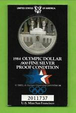 Los Angeles Stadion 1984 -  1 $ Oly  Proof silver coin S = San Francisco