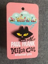 Paul Frank Signed Lapel Pin Mika Cat Julius Sketched