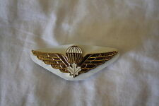 Canadian Forces Airborne Para White Leaf Metal Wing Full Size