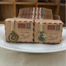 50X Wedding Vintage Paper Candy Boxes Party Gift Favor Stamp Design Box JJ
