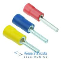 Red / Blue / Yellow Pin Crimp Connector Insulated Electrical Terminal