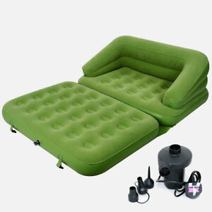 5in1 MULTI FUNCTIONAL INFLATABLE SOFA AIR BED LOUNGER MATTRESS + ELECTRIC PUMP