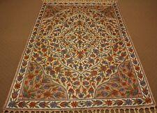 Large Persian Handmade Silk Rug Carpet Runner,Antique Oriental Home Decor 6x4