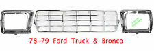 78 79 FORD Truck Bronco CHROME GRILL & DOORS Grille 3Pc New In Box FO1200111